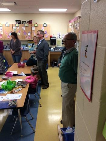 School Board Visits Schools