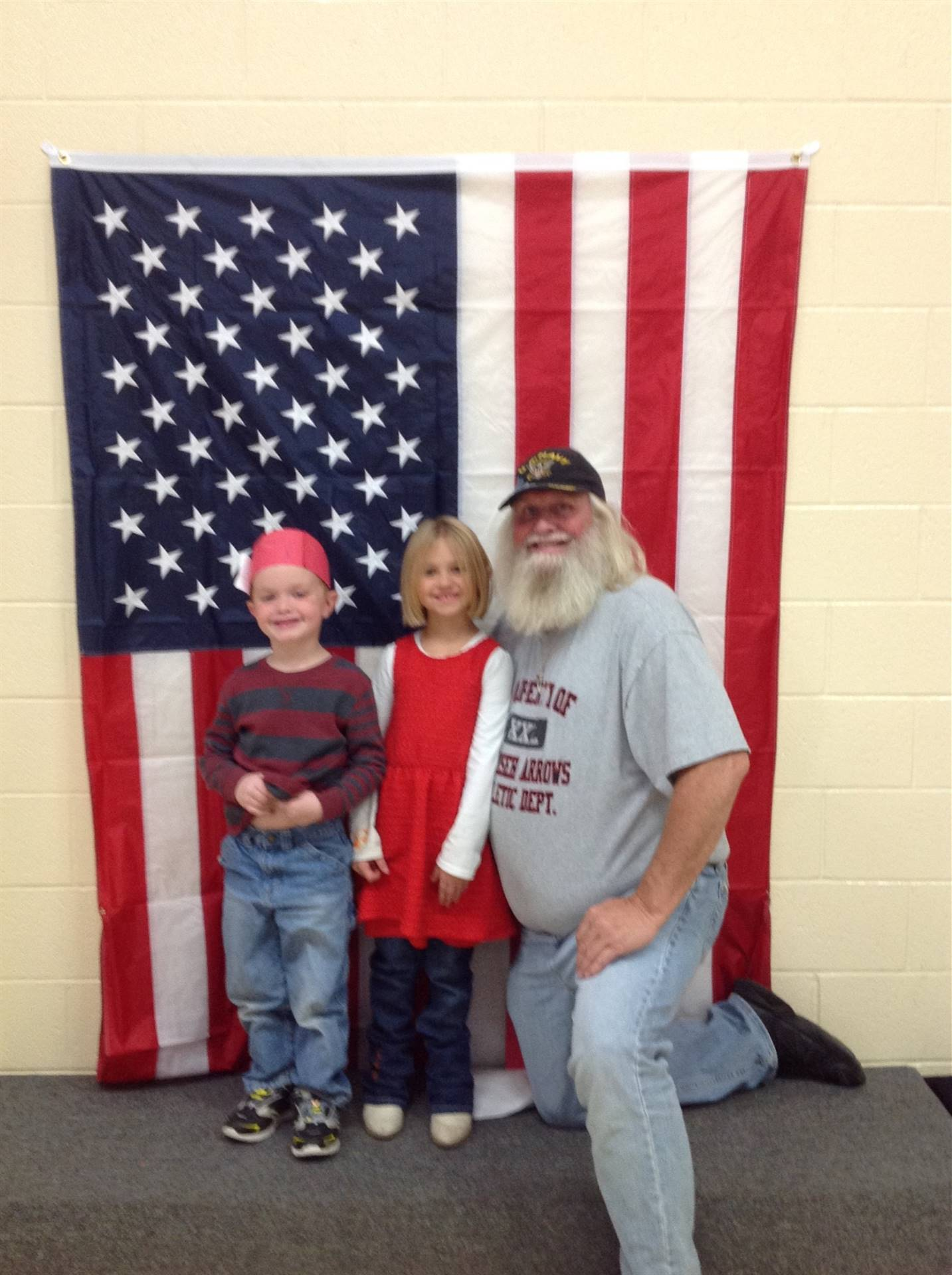 Students with their veterans