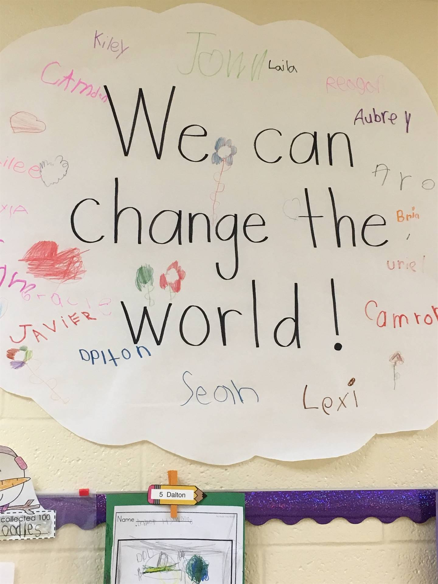 Look how we can change the world.  Inspired by Martin Luther King, Jr.