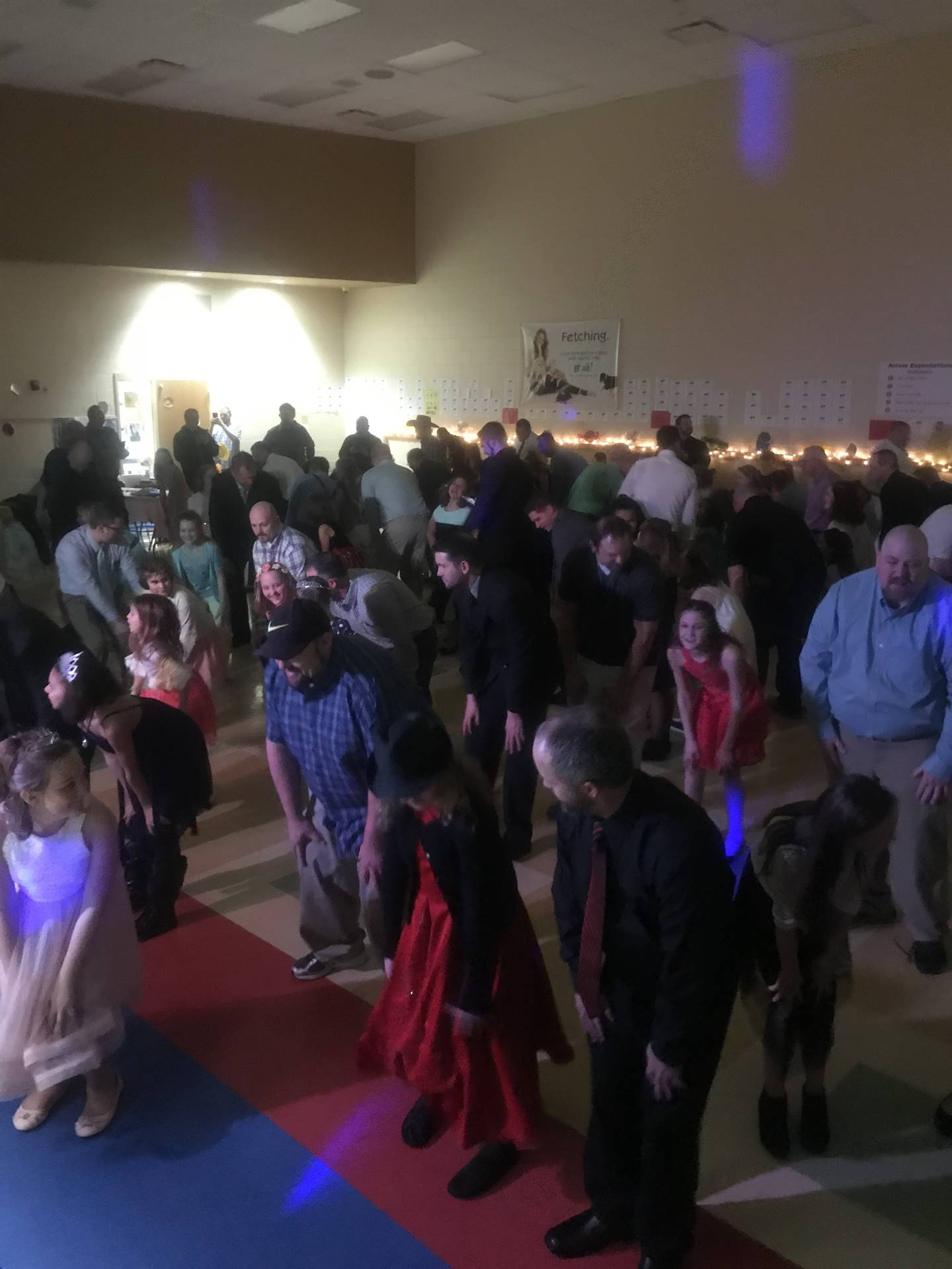 dance floor photo at the father daughter dance