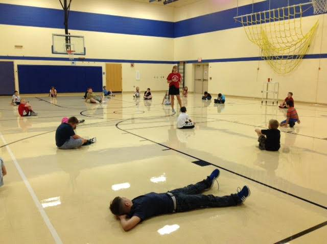 students in physical education