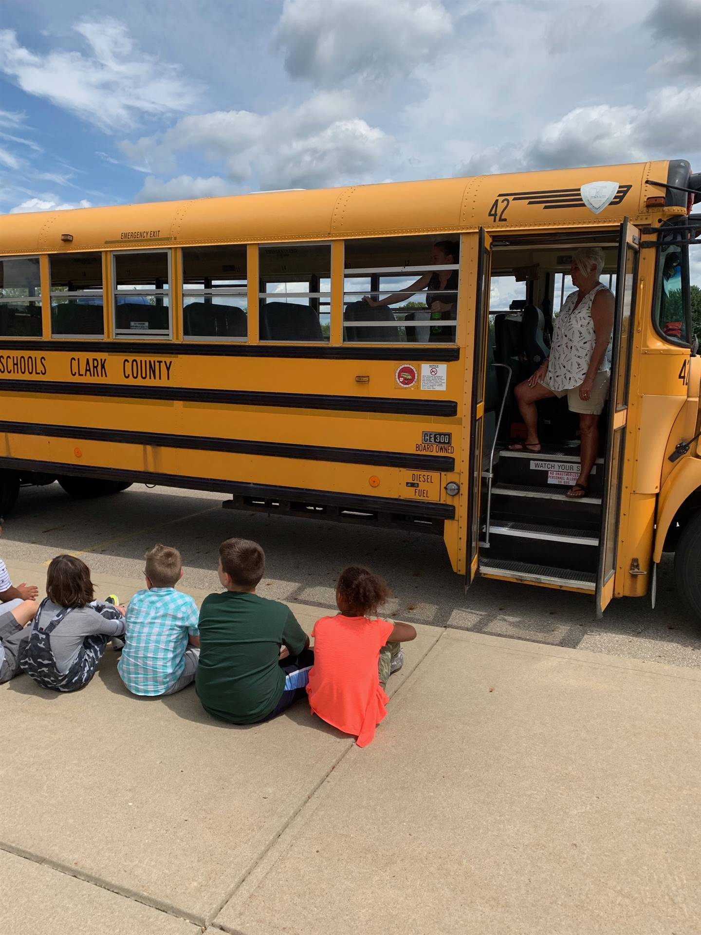 School bus safety drill at NCE fall 2019