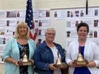 Mrs. Cody, center, NC Rotary Teacher of the Year